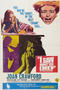 I Saw What You Did - Movie Poster